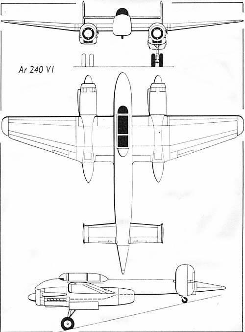 unicraft models 1  72 arado ar 240 v 1